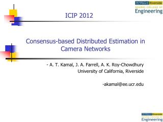 Consensus-based Distributed Estimation in Camera Networks