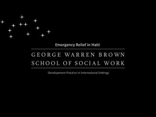 Emergency Relief in Haiti