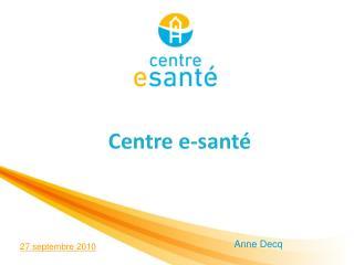 Centre e-santé