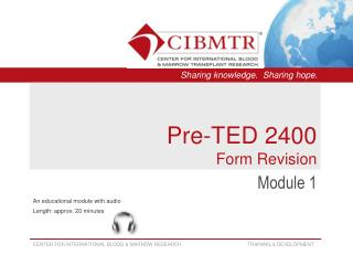 Pre-TED 2400  Form Revision
