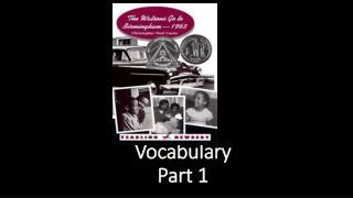 Vocabulary  Part 1