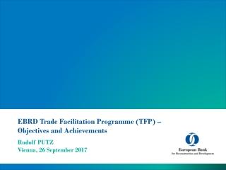 EBRD Trade Facilitation Programme TFP  ebrd
