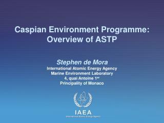 Caspian Environment Programme: Overview of ASTP