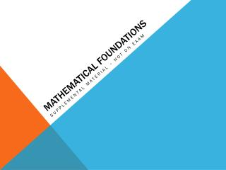 Mathematical Foundations