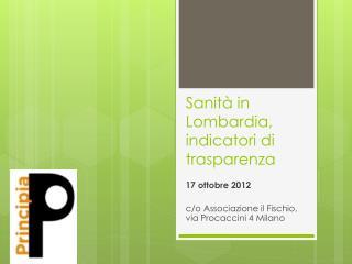 Sanità in Lombardia, indicatori di trasparenza