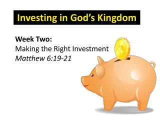 Investing in God's Kingdom