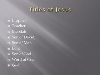 Titles of Jesus