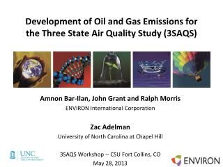 Development of Oil and Gas Emissions for the Three State Air Quality Study (3SAQS)