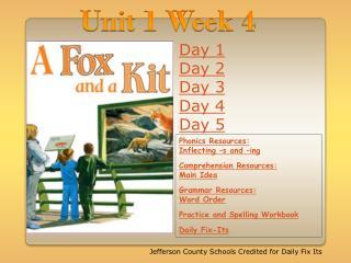 Unit 1 Week 4