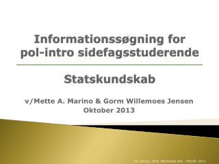Informationssøgning for  pol-intro sidefagsstuderende Statskundskab