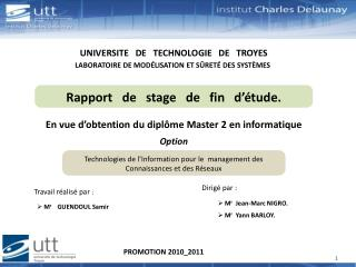 UNIVERSITE   DE   TECHNOLOGIE   DE   TROYES