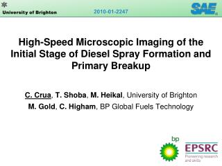 High-Speed Microscopic Imaging of the Initial Stage of Diesel Spray Formation and Primary Breakup