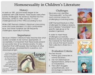 Homosexuality in Children's Literature