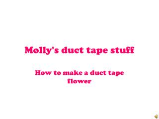 Molly's duct tape stuff