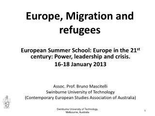 Europe, Migration and refugees