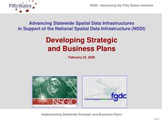 Advancing Statewide Spatial Data Infrastructures in Support of ...