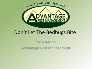 Don't Let The Bedbugs Bite!