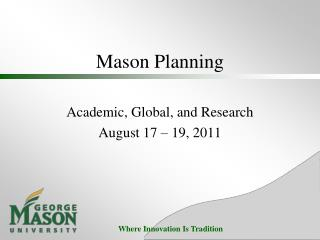 Mason Planning