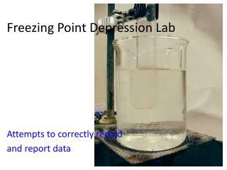 Freezing Point Depression Lab