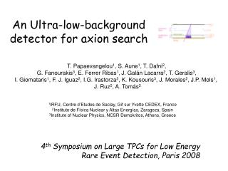 An Ultra-low-background detector for  axion  search