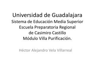 Héctor Alejandro Vela Villarreal