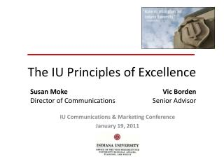 The IU Principles of Excellence