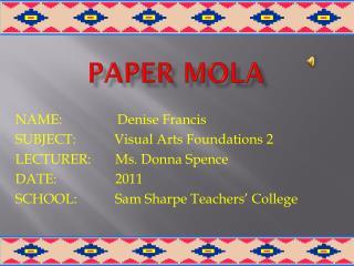 PAPER MOLA