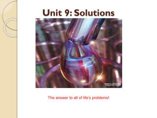 Unit 9: Solutions