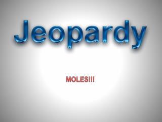 MOLES!!!