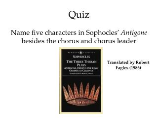 a focus on the characters antigone and creon in sophocles greek trilogy And so the play antigone begins the characters  creon acting king  focus is on the resolution  antigone - antigone a greek tragedy by sophocles the etymology.