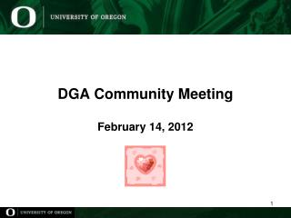 DGA Community Meeting February 14, 2012