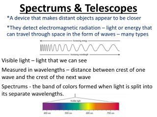 Spectrums & Telescopes