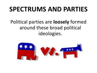 SPECTRUMS AND PARTIES