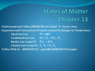 States of Matter Chapter 13