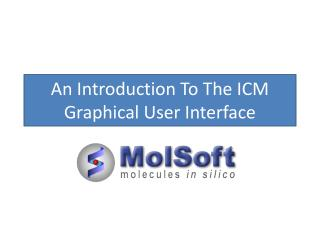 An Introduction To The ICM Graphical User Interface