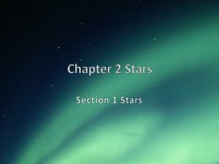 Chapter 2 Stars