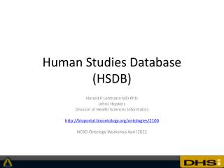 Human Studies Database (HSDB)