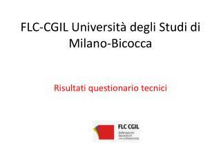 FLC-CGIL Università degli Studi di Milano-Bicocca