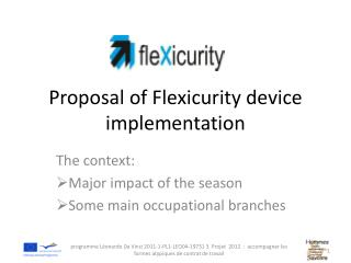 Proposal  of  Flexicurity device implementation