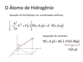 O Átomo de Hidrogênio