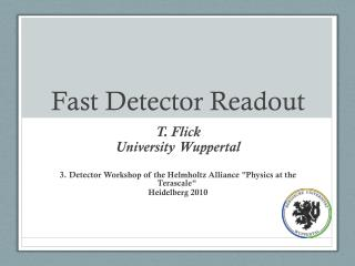 Fast Detector Readout