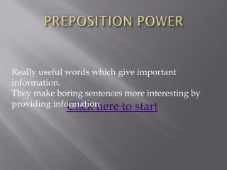 PREPOSITION POWER