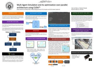 Multi Agent Simulation and its optimization over parallel architecture using CUDA�
