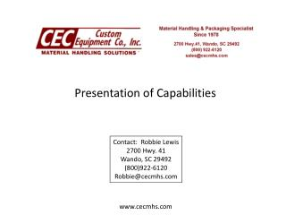 Presentation of Capabilities