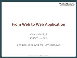 From Web to Web Application