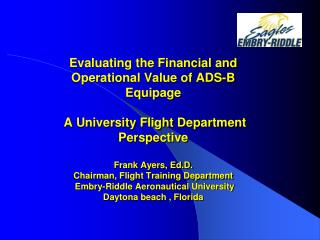 Evaluating the Financial and Operational Value of ADS-B ...