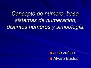 Concepto de n mero, base, sistemas de numeraci n, distintos n meros y simbolog a.