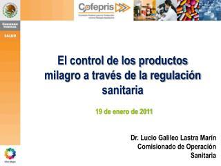 El control de los productos milagro a trav s de la regulaci n sanitaria