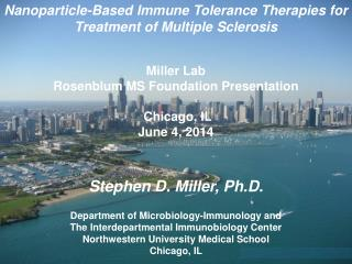 Nanoparticle-Based Immune Tolerance Therapies for  Treatment of Multiple Sclerosis Miller Lab