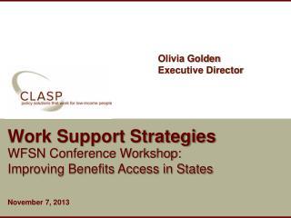 Work Support Strategies